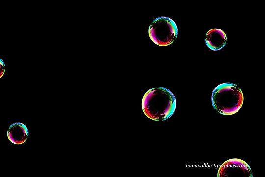 Wonderful rainbow soap bubble on black background | Bubble Photo Overlay