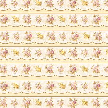 Vintage floral digital paper with pink flowers | Invitation Digital Paper