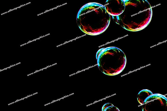 Spring Blowing Bubble Overlays | Stunning Photoshop Overlay on Black
