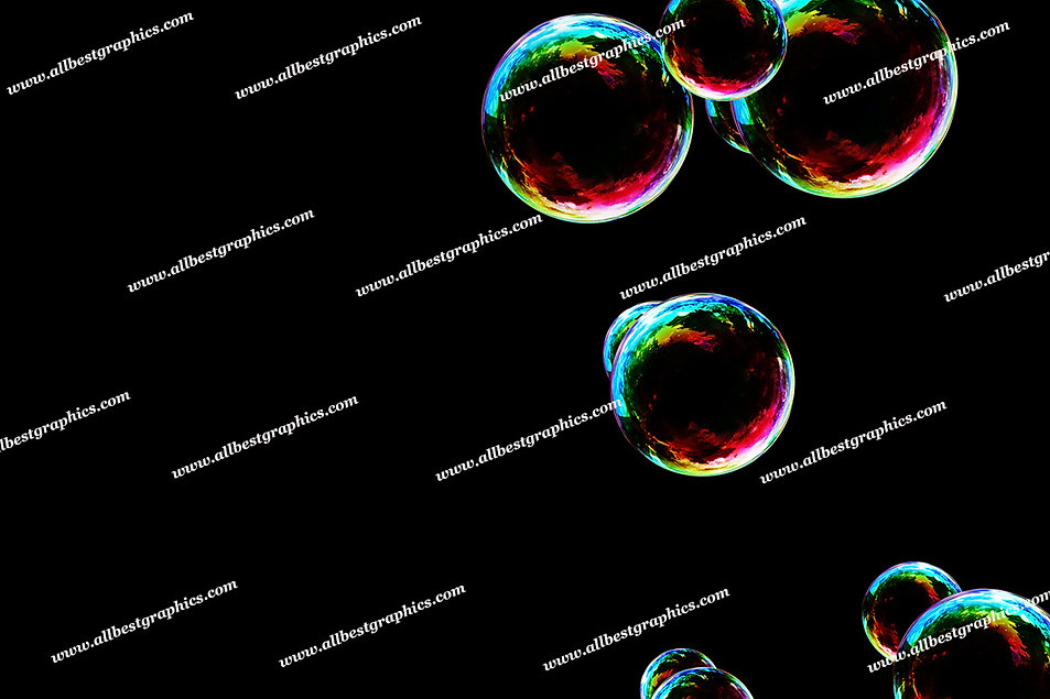 Spring Blowing Bubble Overlays   Stunning Photoshop Overlay on Black