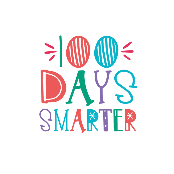 100 days smarter_2 | Free download Iron on Transfer Funny Quotes T- Shirt Design in Png