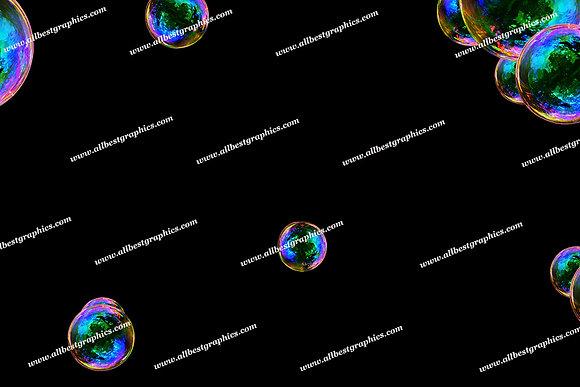 Whimsical Bathroom Bubble Overlays | Professional Photo Overlay on Black