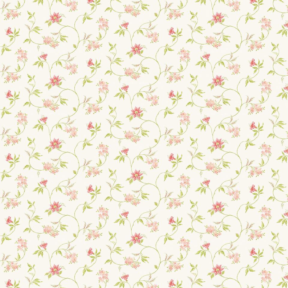Summer floral digital paper with pink flowers | Scrapbook Paper
