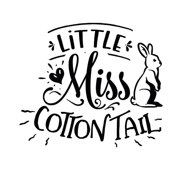Little miss cotton tail Png   Free download Printable Cool Quotes T- Shirt Design in Png
