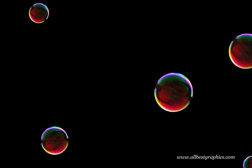 Gorgeous air soap bubbles on black background | Bubble Photo Overlay
