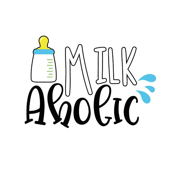 Milkaholic Png | Free download Iron on Transfer Funny Quotes T- Shirt Design in Png