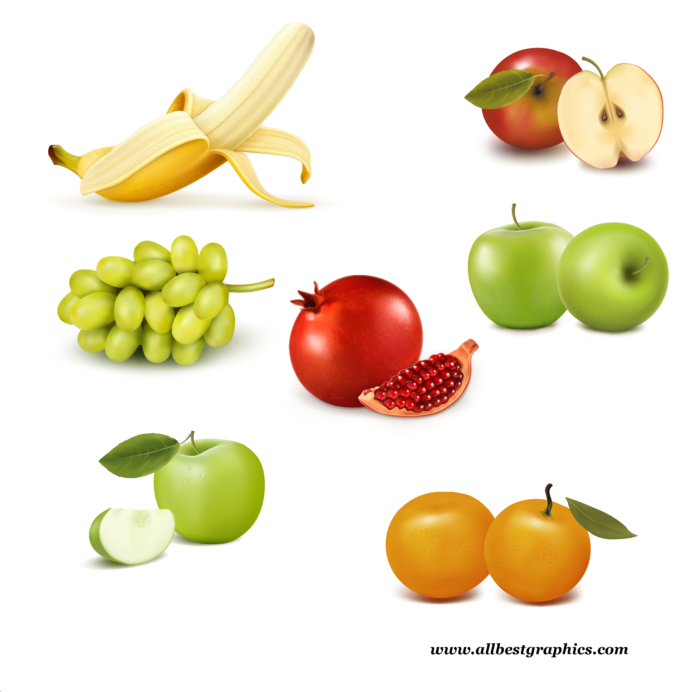Different Fresh Farm And Healthy Fruits Clipart Png Format Free