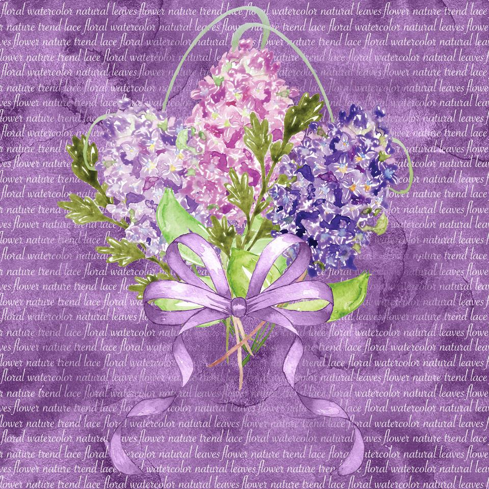 Luxury watercolor digital paper with pink flowers | Printable Digital Paper