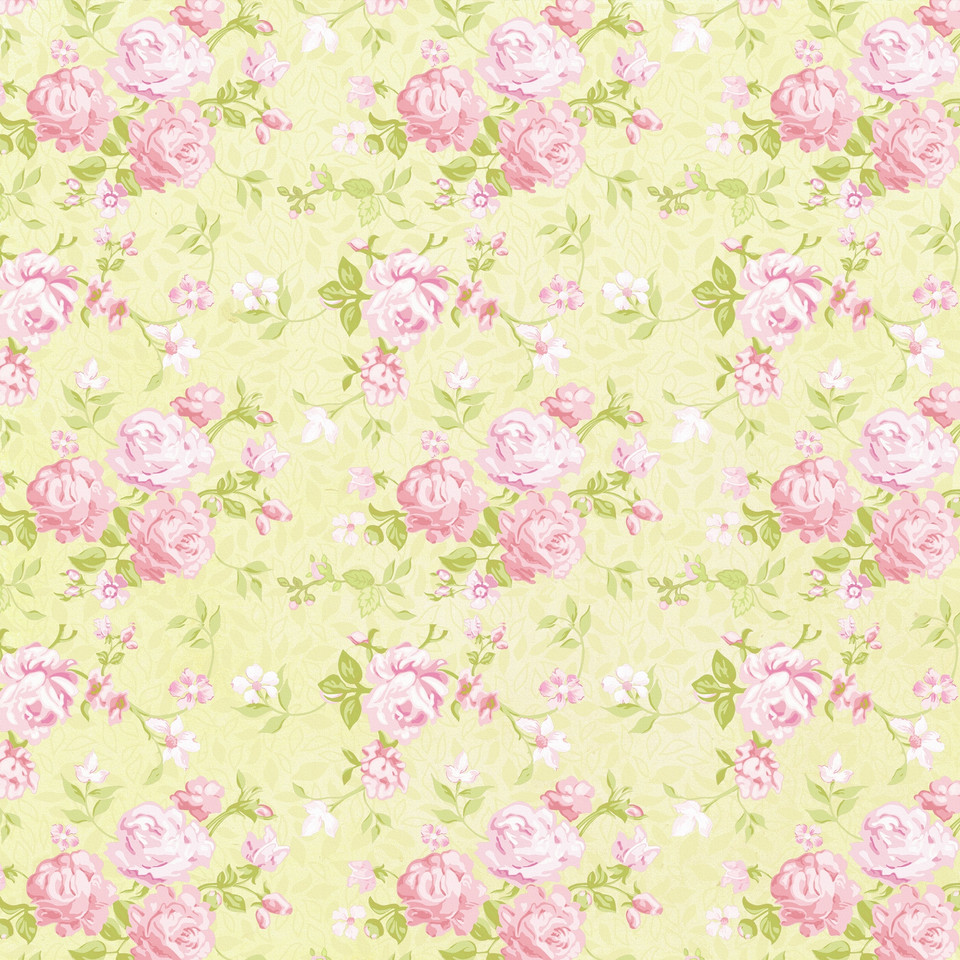 Shabby chic floral digital paper with roses and peonies | Scrapbook Digital Paper