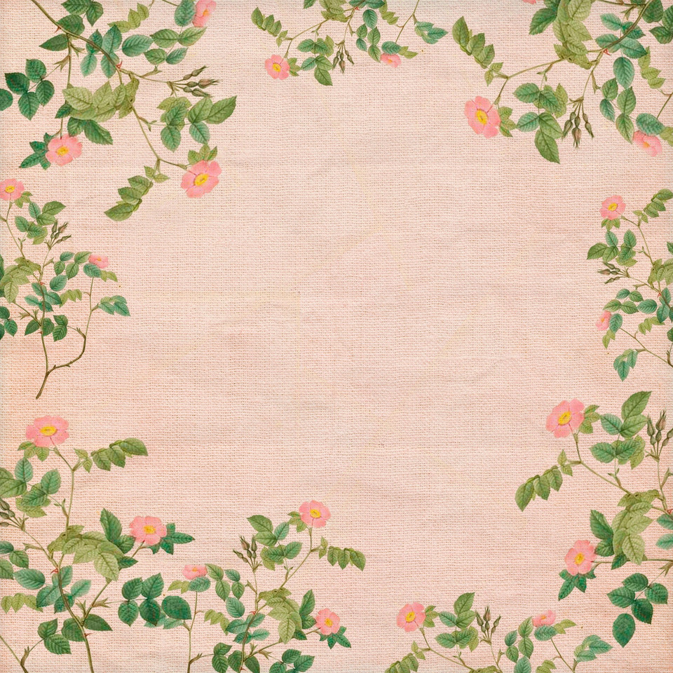 Summer floral digital paper with roses | Invitation Digital Paper