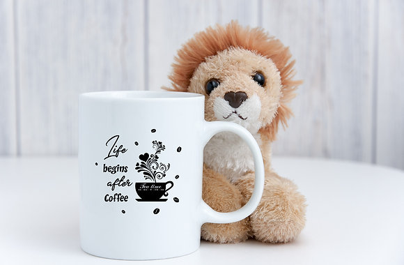 Life begins after coffee vol.1 | Coffee mug Funny Quotes Svg Eps Dxf Png