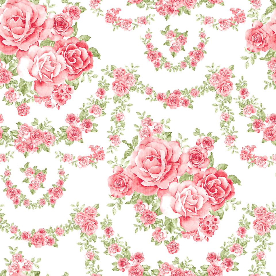 Shabby chic floral digital paper with peonies   Scrapbook Digital Paper
