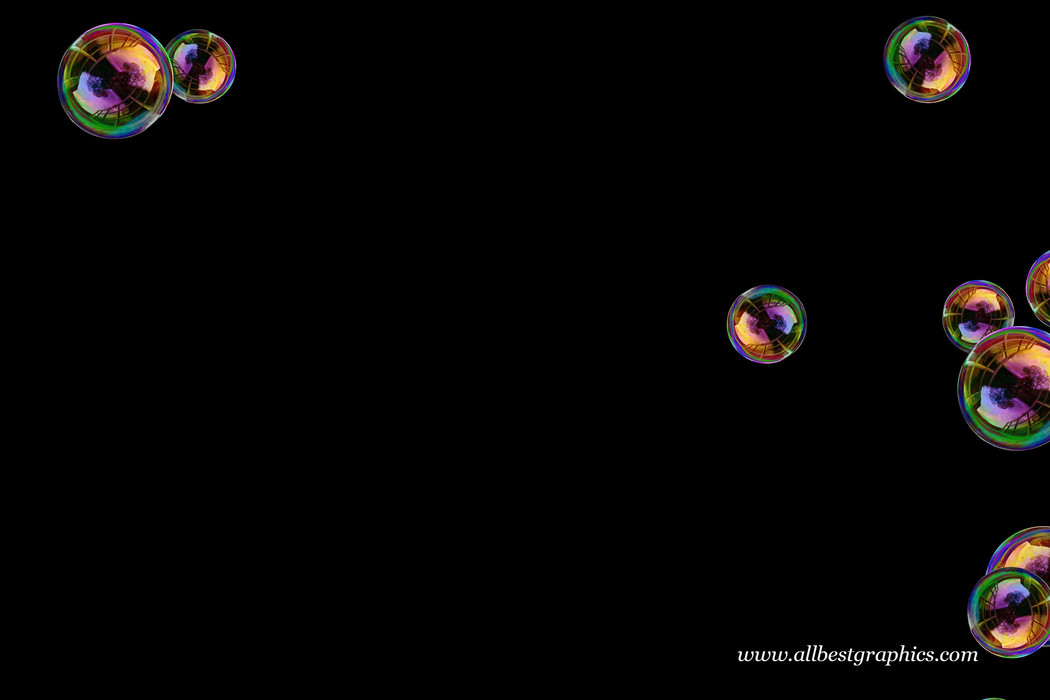Awesome realistic soap bubbles on black background   Bubble Photoshop Overlay