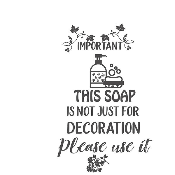 This soap is not just for decoration Png | Free Printable Sarcastic Quotes T- Shirt Design in Png