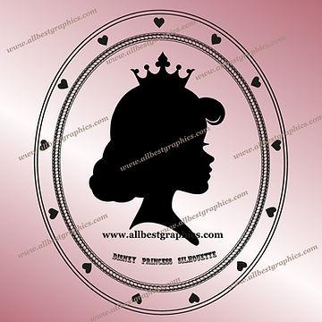 I'm a Disney Princess Silhouette Clip Art | Disney Characters Cut Files
