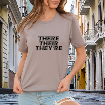 There Their They're SVG   Printable Cool T-shirt Quotes in Eps Svg Png Dxf