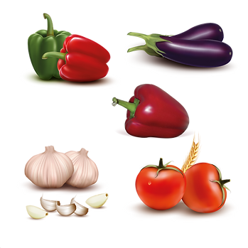 Beautiful organic fruits & vegetables digital set png format  - Food clipart free download 2400x2400 png