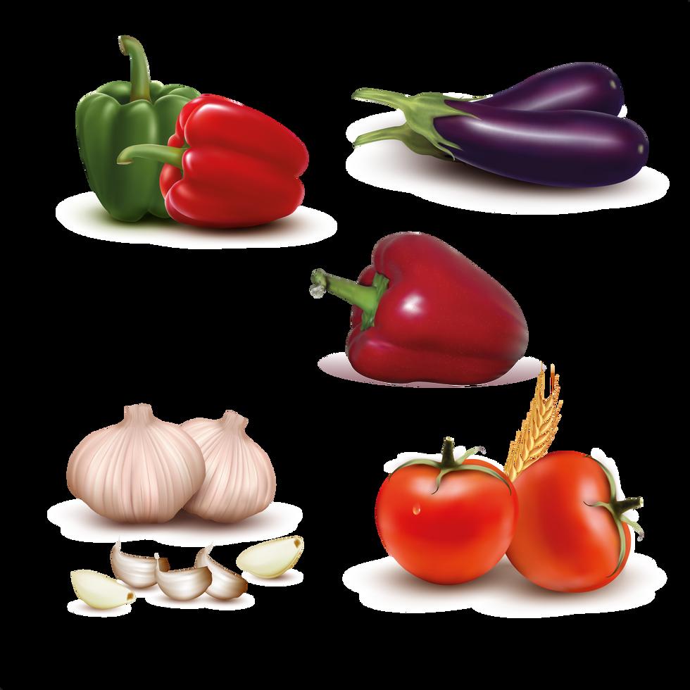 Beautiful organic fruits & vegetables digital set png format  - Food clipart free download 2400x2400 png