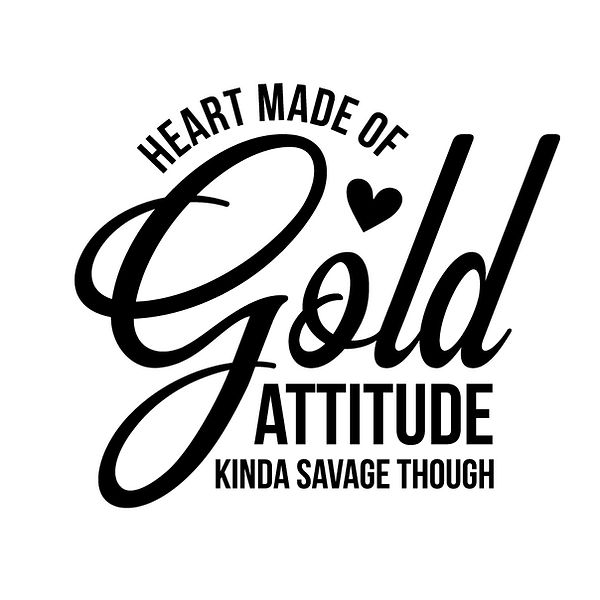 Heart made of gold Png | Free download Iron on Transfer Sassy Quotes T- Shirt Design in Png