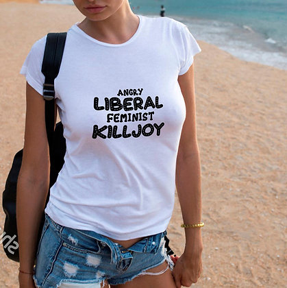 Angry liberal feminist killjoy_2 | Cool T-shirt Quotes in Eps Svg Png Dxf