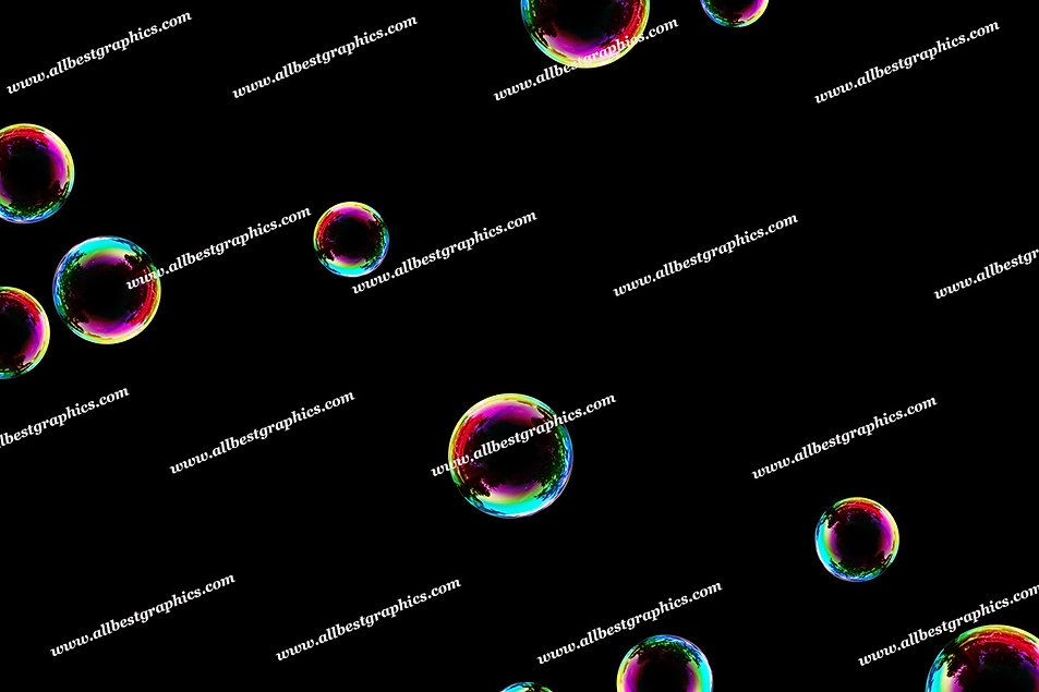 Spring Blowing Bubble Overlays | Incredible Photo Overlay on Black