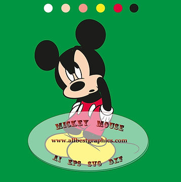 Mickey Mouse clipart Png Dxf Eps Ai Svg | Disney cartoons cut files for Cricut