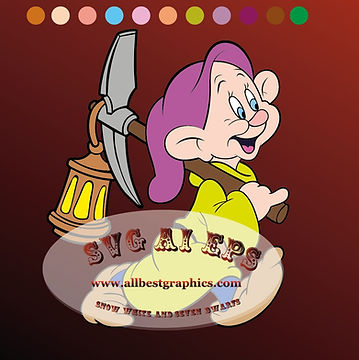 Dopey Dwarf Eps Ai Svg Dxf Png | Snow White and the Seven Dwarfs clip