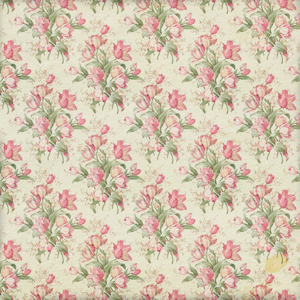 Wedding floral digital paper with peonies | Partterned Digital Paper