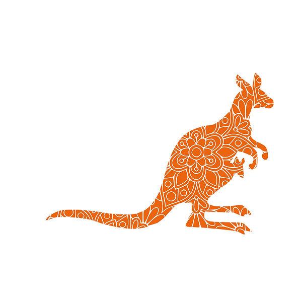Kangaroo mandala Png   Free Iron on Transfer Funny Quotes T- Shirt Design in Png