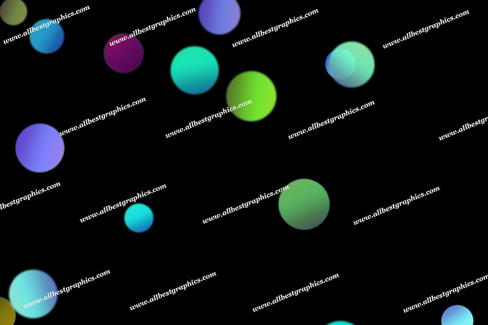 Delightful Party Lights Bokeh Effect | Elegant Photo Overlay on Black