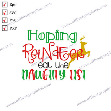 Hoping Reindeer Eat | Best Cool Quotes Christmas Decor Easy-to-Use Cut files