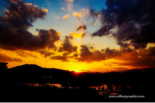 Great clear sunset overlay with clouds | Photoshop overlays