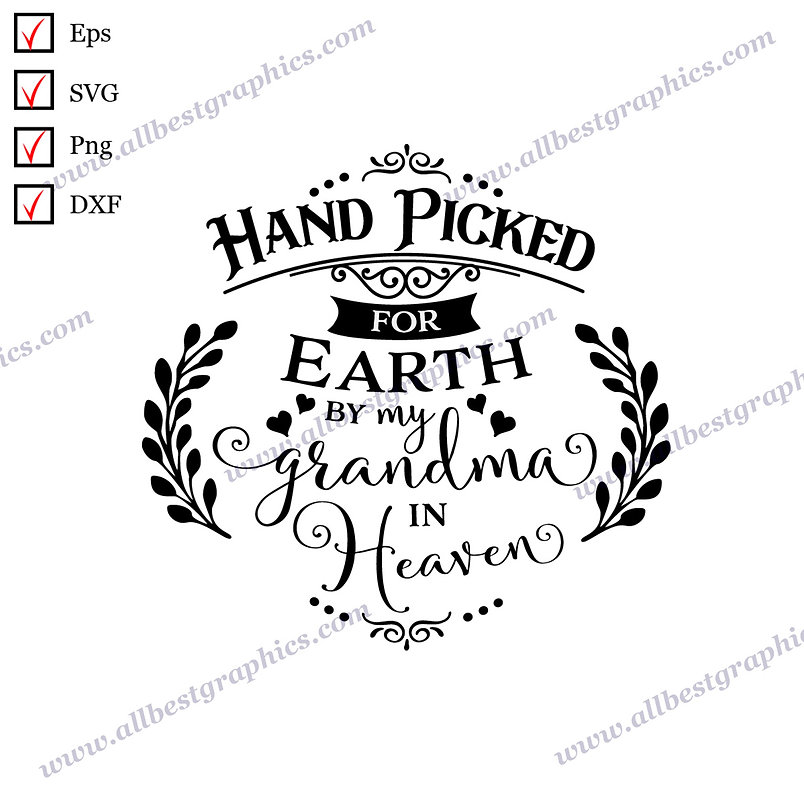 Hand Picked By My Grandma | The Best Cool Sayings Easy-to-Use Christmas Décor