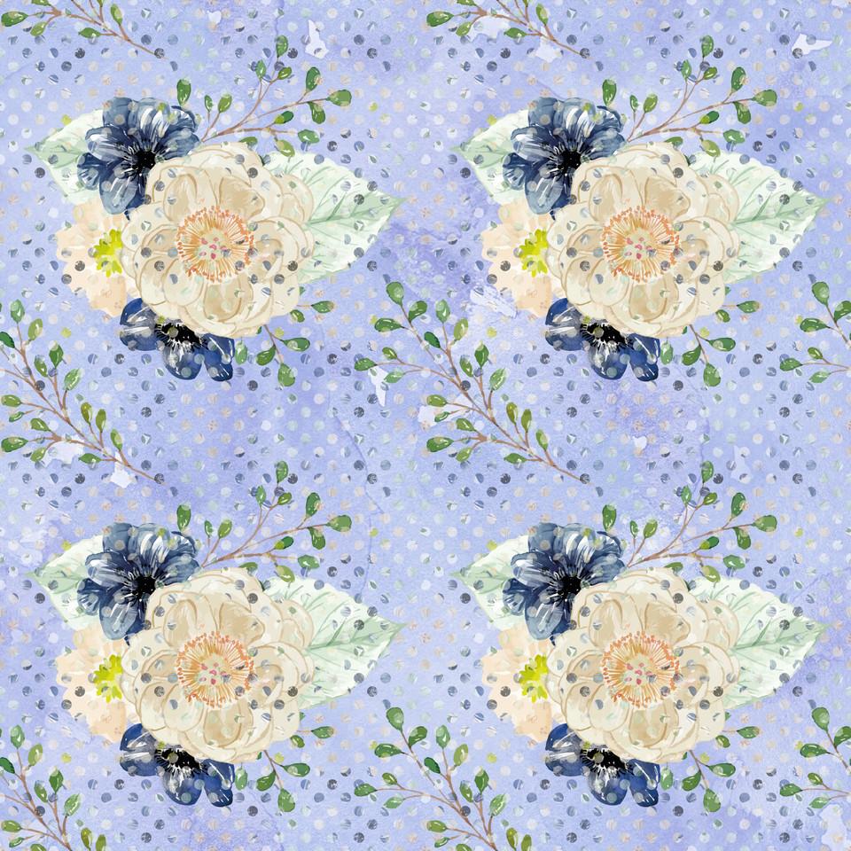 Luxury watercolor digital paper with pastel flowers | Textured Digital Paper