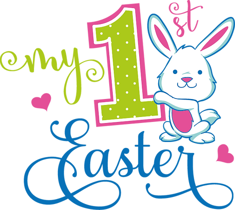 My First Easter | Funny Easter and Bunny Quotes & Signs Cut files in Dxf Svg Eps