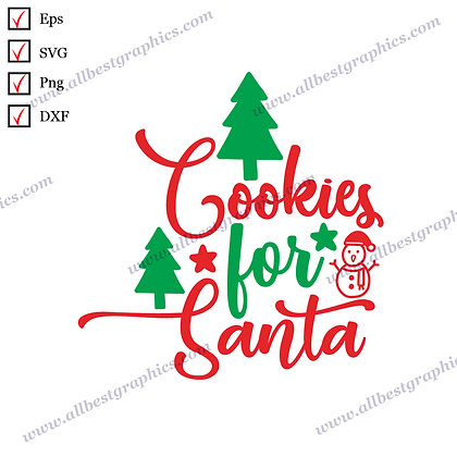 Cookies for  Santa | Best Funny Sayings Instant Download Christmas Décor