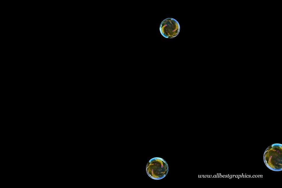 Dreamy rainbow soap bubbles on black background | Bubble Photo Overlays