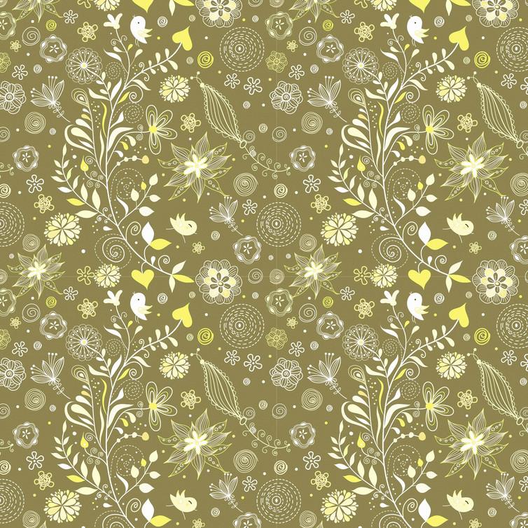 Retro floral digital paper with peonies | Printable Digital Paper