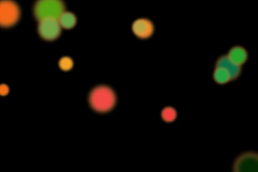 Colorful Christmas Light Bokeh Overlay on black background   Freebies