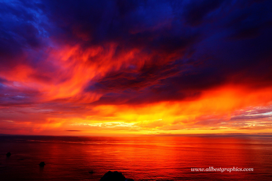 Whimsical dark sunset overlay with clouds | Photo overlays