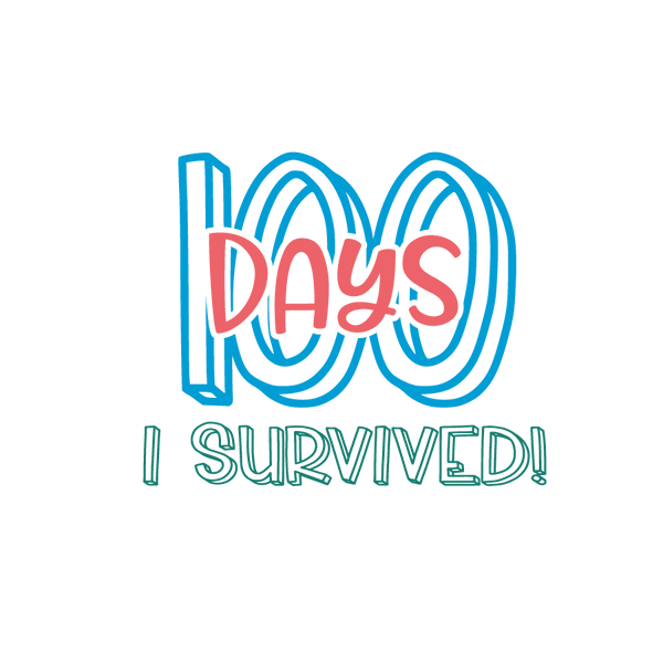 100 days i survived   Free Iron on Transfer Slay & Silly Quotes T- Shirt Design in Png