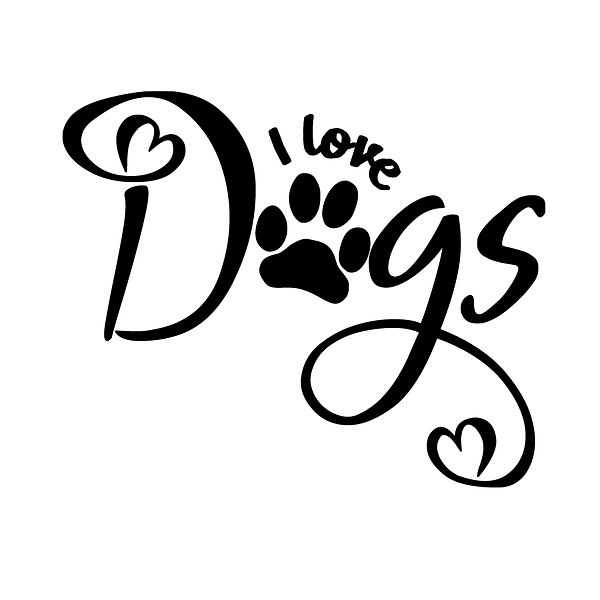 I love dogs Png | Free download Iron on Transfer Sassy Quotes T- Shirt Design in Png