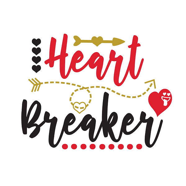 Heart breaker Png   Free download Printable Cool Quotes T- Shirt Design in Png