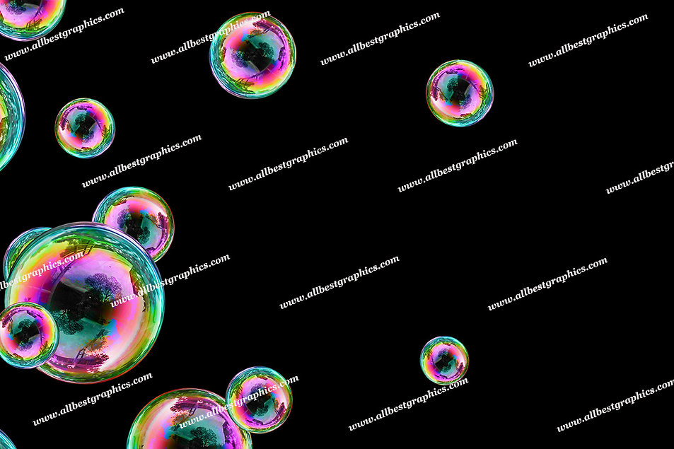 Gorgeous Bright & Airy Bubble Overlays   Unbelievable Photo Overlays on Black