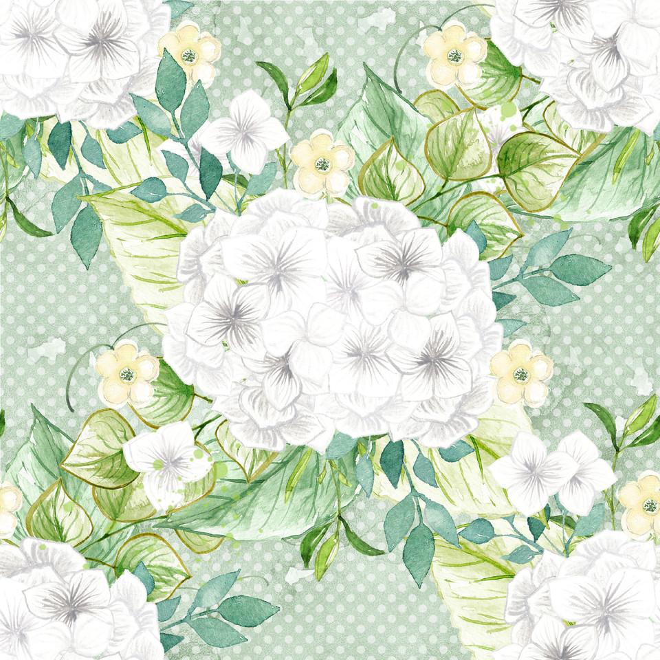Great watercolor digital paper with peonies | Scrapbook Digital Paper