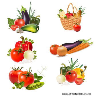 Farm and natural fruits & vegetables digital set  - Food clipart png free download size - 2400x2400 300ppi