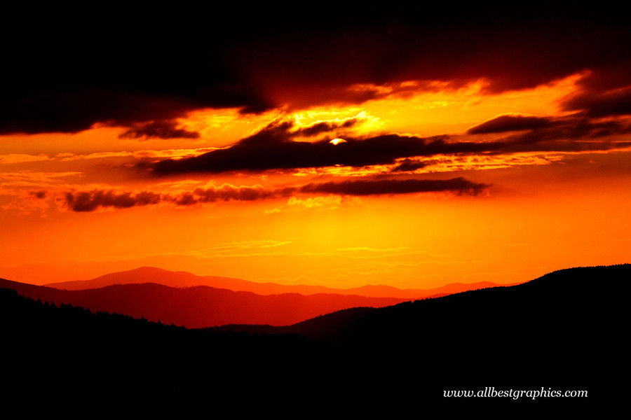 Fantastic dark sunset sky with clouds | Photoshop overlays