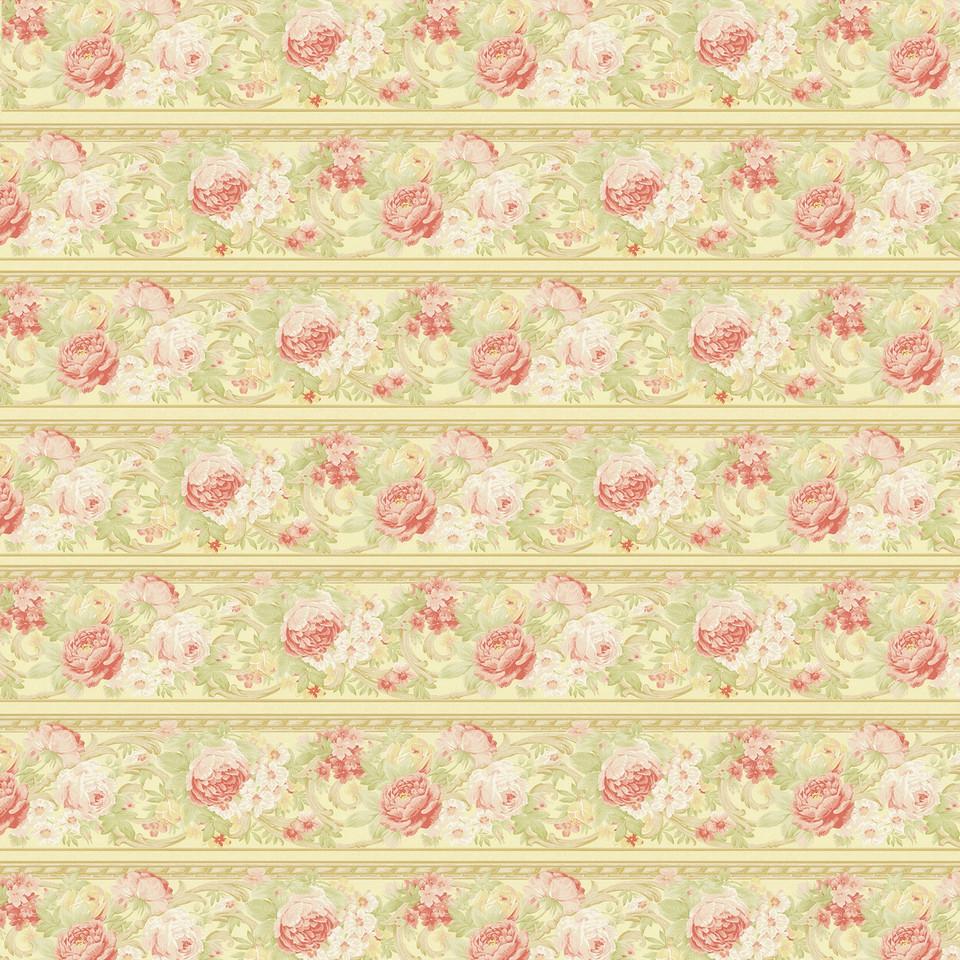 Summer floral digital paper with roses   Gift Digital Paper