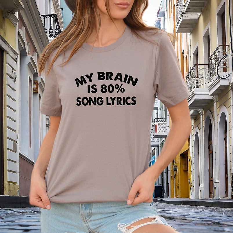 My brain is 80%  SVG | Iron on Transfer Funny T-shirt Quotes for Cricut
