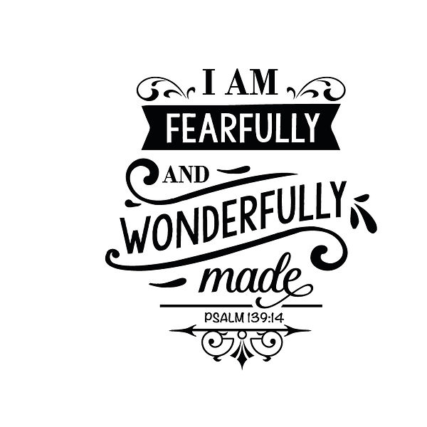 Fearfully and wonderfully made Png | Free Iron on Transfer Slay & Silly Quotes T- Shirt Design in Png